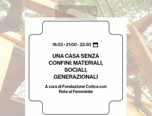 Come è cambiato nell'ultimo anno il nostro  vivere la casa: una casa senza confini , dalla Milano Digital Week 2021 per una Città equa e sostenibile